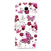 OEMFlexicase Skal till Samsung Galaxy J7 - Rosa Fjärilar