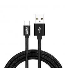 Boom of SwedenBoom of Sweden - Nylon USB-C Kabel, 2.1A, 3M - Svart