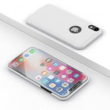 A-One BrandElectroplating Mirror View Fodral till iPhone XS MAX - Vit