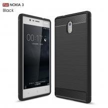 A-One BrandCarbon Brushed Skal till Nokia 3 - Svart