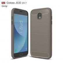 OEMCarbon Brushed Skal till Samsung Galaxy J3 (2017) - Grå