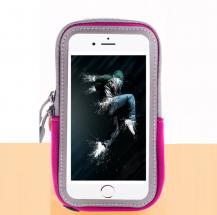 A-One BrandUniversalt sportarmband för mobiler upp till 6.5 tum - Rosa