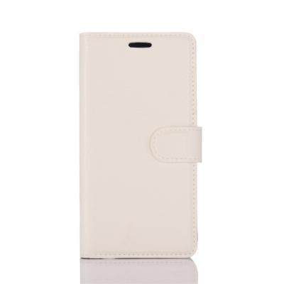 Litchi Plånboksfodral Huawei Honor 8 Lite - Vit