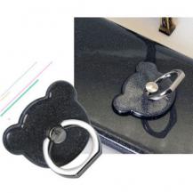 OEMNalleBjörn Glitter Ringhållare till Mobiltelefon - Svart