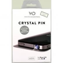 WHITE-DIAMONDSWHITE-DIAMONDS 3,5mm PIN Blå inkl iPhone4 glitterskärmskydd