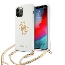 GuessGuess Skal iPhone 12 / 12 Pro 4G Gold Chain Collection - Vit
