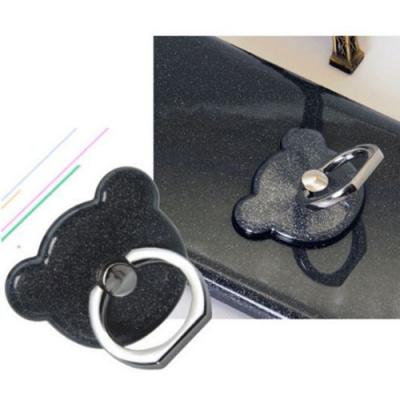 NalleBjörn Glitter Ringhållare till Mobiltelefon - Svart