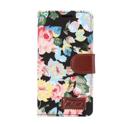 Plånboksfodral till Sony Xperia Z5 - Rosor Svart