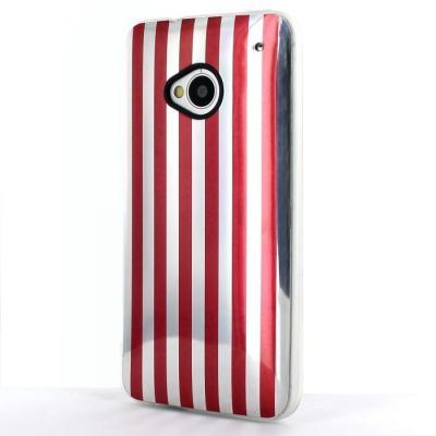 Flexicase Skall till HTC One (M7) - Röd + Skärmskydd
