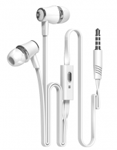 LangsdomLangsdom JM21 in-ear hörlurar med handsfree - Vit
