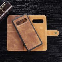 DG.MINGDG.MING Plånboksfodral 2-i-1 Split för Samsung Galaxy S10 - Brun