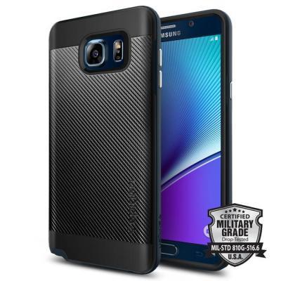 SPIGEN Neo Hybrid Carbon Skal till Samsung Galaxy Note 5 - Metal Slate
