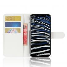 A-One BrandLitchi Plånboksfodral till iPhone XS / X - Vit