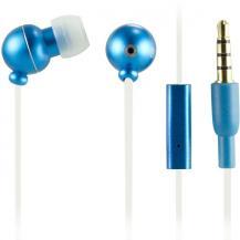 STREETZSTREETZ in-ear headset med mikrofon och svarsknapp (Blå)