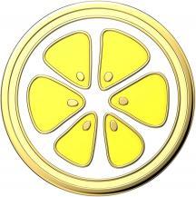 PopSocketsPOPSOCKETS Enamel Lemon Slice Yellow Avtagbart Grip