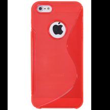 A-One BrandFlexiCase Skal till Apple iPhone 5/5S/SE - S-line (Röd)