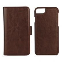 EssentialsEssentials iPhone 6/7/8/SE (2020), PU wallet 3 kort avtagbar, brun