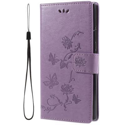 Butterfly Plånboksfodral till Sony Xperia L2 - Lila