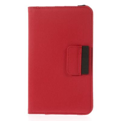 Denim Rotating Plånboksfodral till Samsung Galaxy Tab 4 7.0 (Röd)