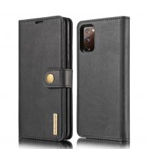 DG.MINGDG.MING Detachable Äkta Läder Plånboksfodral Samsung Galaxy S20 FE - Svart