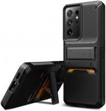 VERUSVRS DESIGN - Damda QuickStand Skal Samsung Galaxy S21 Ultra- Svart
