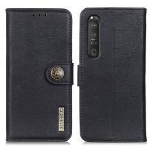 KHAZNEHKhanzeh - Plånboksfodral Sony Xperia 1 III - Svart