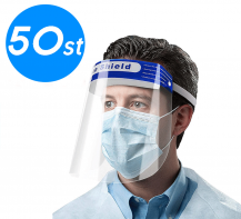 50-PACK - Skyddsvisir / Visir / Munskydd / Ansiktsskydd