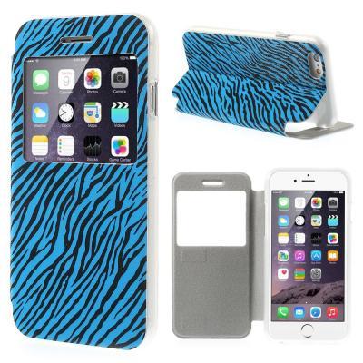 Glittery Mobilfodral med fönster till Apple iPhone 6   6S - Zebra Blå 033008b644023