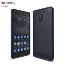 OEMCarbon Brushed Skal till Nokia 6 - Blå