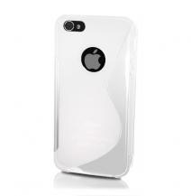 OEMFlexiCase Skal till Apple iPhone 5/5S/SE - S-Line (Milk)