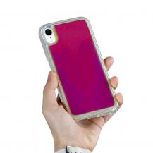 A-One BrandLiquid Neon Sand skal till iPhone XR - Violet