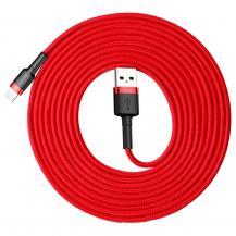 BASEUSBaseus Cafule lightning kabel QC3.0 2A 3M Röd