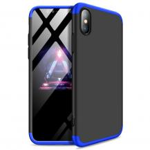 GKKGKK 360 Protection Fram bak skal iPhone XS Max Svart-Blå