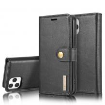 DG.MINGDG.MING Äkta Läder Plånboksfodral iPhone 13 Pro - Svart