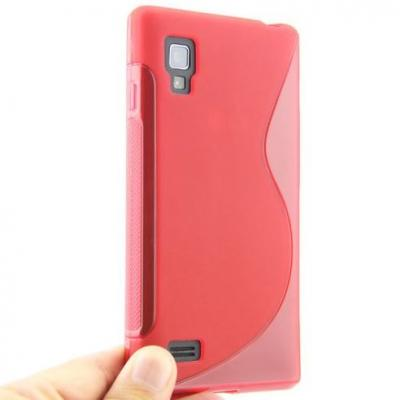 FlexiCase Skal till LG Optimus L9 - P760 - (Röd)