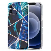 Boom of SwedenBoom of Sweden Grid skal till iPhone 12 Mini - Blå Marmor