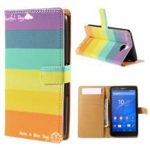 OEMPlånboksfodral till Sony Xperia E4 - Regnbåde