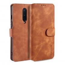 DG.MINGDG.MING Läder Plånboksfodral OnePlus 8 - Brun