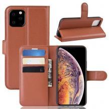 A-One BrandLitchi Plånboksfodral till iPhone 11 Pro - Brun
