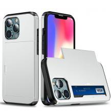 A-One BrandHybrid Skal med Kortplats till iPhone 13 Pro Max - Silver