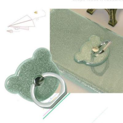NalleBjörn Glitter Ringhållare till Mobiltelefon - Grön