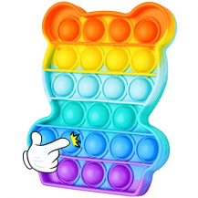 Fidget ToysPop it Fidget Sensory Leksak - Panda - Regnbåge