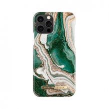 iDeal of SwedenIDEAL FASHION CASE iPhone 12 & 12 Pro GOLDEN JADE MARBLE