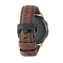 UAGUAG Samsung Galaxy Watch Leather Strap 46mm - Brown
