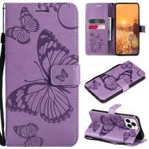 OEMFjärilar Plånboksfodral iPhone 13 Pro Max - Lila