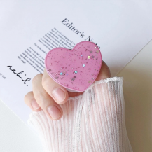 A-One BrandHeart Glitter Mobilhållare / Mobilgrepp - Rosa