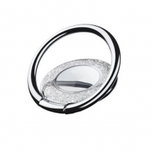 A-One BrandMetal Glitter Ringhållare till Mobiltelefon - Silver