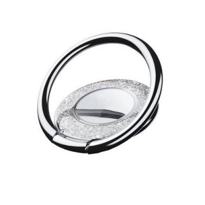 Metal Glitter Ringhållare till Mobiltelefon - Silver