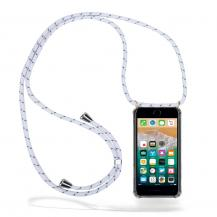 CoveredGear-NecklaceCoveredGear Necklace Case iPhone 7/8 Plus - White Stripes Cord