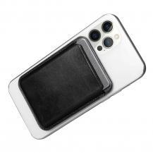 ICARERiCarer Magsafe Läder Magnetic Korthållare iPhone 12/13 (Pro/Max/Mini) - Svart